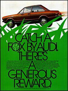 1975 Audi 1976 Fox car 2 door automobile vintage art print ad ads40