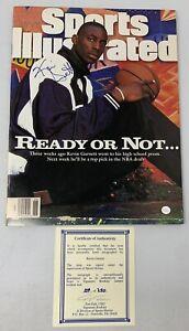 1995-96 Kevin Garnett Signature Rookies Autobilia Signed Sports Illustrated Auto