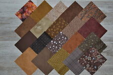 lot de 20 coupons de tissu patchwork chocolat-noisette