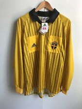 adidas Sweden Football Men's Referee LS Shirt - XL - Yellow - New