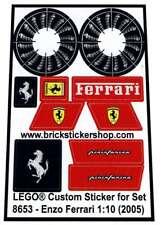 Custom Pre-Cut Sticker for Racers Lego® Set 8653 - Enzo Ferrari 1:10 (2005)