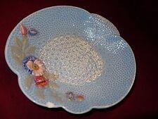 Art Deco 20s 30s Melba Ware porcelain dish pale blue floral  24 x 22 cm A/F