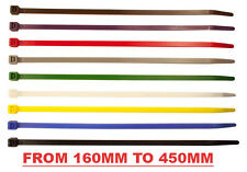 Coloured Cable Ties 450mm Long Zip Ties- Cable tidy, Silver Car rims, green