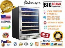 KALAMERA 24 in. Built-In 46 Bottle Dual Zone Wine refrigerator