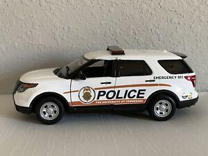 University Of Tennessee custom Police diecast SUV Motormax 1:24 scale