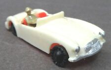 c. 1960 Blue-Box 7422 MGA Convertible Hong Kong WHITE plastic Matchbox Copy