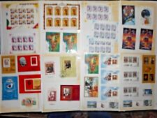 Russian commemorative plates and assorted Stamps CCRP
