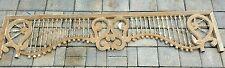 "gingerbread fretwork trim carved oak pediment stick & ball spindle salvage   64"""