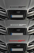 For VOLKSWAGEN VW BONNET PERFORMANCE CHECKS  CAR DECAL STICKER GOLF - 600mm long