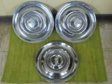 """54 55 Lincoln HUB CAPS 15"""" Set of 3 Wheel Covers Hubcaps 1954 1955"""