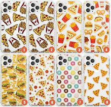 Fast Food Pattern Impact Phone Case for iPhone | Fast Food Pattern Clear Transpa