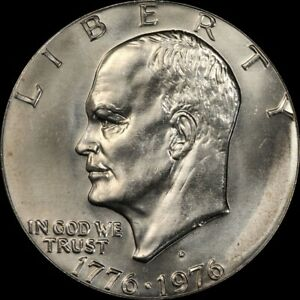"""1976 D Eisenhower Dollar """"About Uncirculated"""" US Mint Coin AU Ike"""