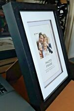 Black Acrylic Wall Hanging / Freestanding Photo Frame for 4 X 6 Inch Photo VGC