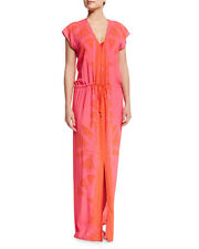 Tory Burch Olympia Poppy Red Caftan Dress Tunic Swim  M L NWT Cover Up Gown Maxi