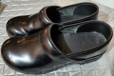 DANSKO Black Leather Professional Clogs Loafers Shoes Sz 43 very good condition