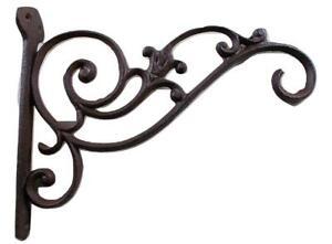 Decorative Cast Iron Plant Hook Bracket - Birdfeeder Hanger