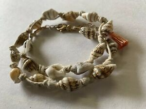 Sea Shell Hemp Anklet Ankle Bracelet Knotted