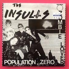 """Insults - Population Zero / Zombie Lover 7"""" KBD punk 1979 45 killed by death NEW"""