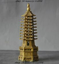 Chinese Religions Buddhism Temple pure brass 9 floor Wenchang Tower stupa Pagoda