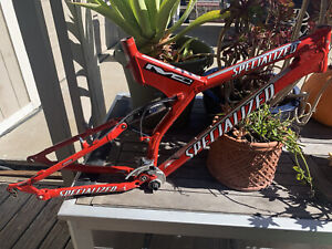 Specialized S-works M4 Medium frame-set, With Bottom Bracket And Derailleur