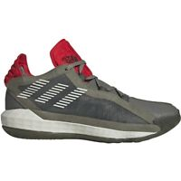 """adidas Mens Dame 6 """"Spitfire"""" Basketball Shoes Red Tails Black History Month WW2"""