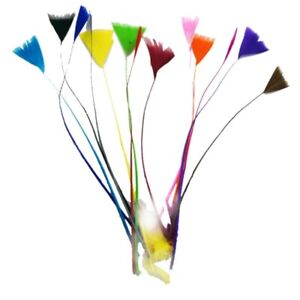Stripped Goose Tree Feathers Fly Craft Hat Arts Decorations Hat DIY Sweing UK