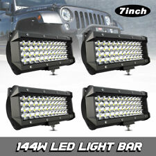 4x 7inch Off-Road Driving Fog Light Spot Combo LED Work Light Bar 144W for jeep