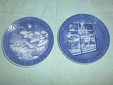 2 Grande Porcelain Of Copenhagen Christmas Plates Julen 1975, Julen 1976