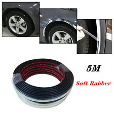 5M*28MM Silver Car SUV Wheel Rubber Eyebrow Protector Lip Arch Trim Fender Strip