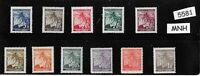1940s Stamp set / MNH Third Reich WWII / Linden Leaves / Germany Occupation