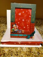 New..Walt Disney World Mickey Mouse Christmas Scrapbook Frame -Fits 5 x 7 photo