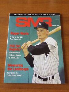 PSA Grading SMR Price Guide February 2020 w/ Roger Maris New York Yankees