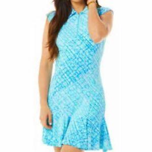 NWT Ladies IBKUL LIZ JADE LAVENDER Sleeveless Polo Golf Dress - sizes L & XL