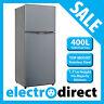 Brand New 400 Litre Top Mount Refrigerator Stainless Steel Fridge Freezer