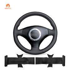 Black Artificial Leather Steering Wheel Cover for Audi TT A3 A4 S4 RS6 2001-2006