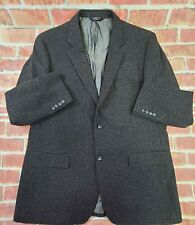 Joseph & Feiss Cashmere Wool Blend Gray Sport Coat Jacket 46 Long