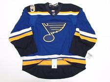 ST. LOUIS BLUES HOME 50th ANNIVERSARY TEAM ISSUED REEBOK EDGE 2.0 JERSEY SIZE 52