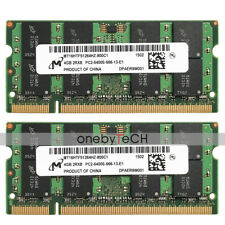 Micron 8GB KIT 2x4GB PC2-6400S DDR2-800Mhz 200-PIN SO-DIMM Memory Module NON-ECC