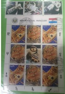 1691 - Paraguay - 1988 - Space exploration - sheet + 3v - Special cancellation