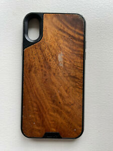 Mous Limitless Iphone X Protective Case - Walnut Wood Brown & Black