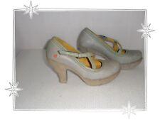 G  -  Chaussures Escarpins Gris Vert Clair New York 890   Art Pointure 37