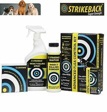 Strikeback Advanced Flea Control Kit, Flea Flogger, Powder, Spray - Free DVD