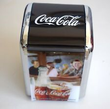 Coca Cola Metal Table Napkin Holder Dispenser Storage Container New Rare