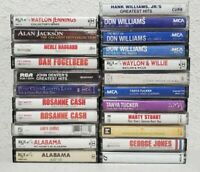 Lot Of 29 Country Audio Cassette Tapes Alabama/Rosanne Cash/Merle Haggard/Waylon