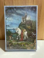 1000 piece Time of the Unicorn fantasy art jigsaw puzzle complete