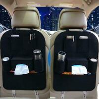Auto Car Seat Back Multi-Pocket Storage Bag Organizer Holder Black Accessor X5M9