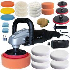 Vossner® Poliermaschine VPM 1400 Schleifmaschine KFZ 0-3000min Auto Politur Set