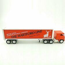 Winross 1/64 Diecast Semi Truck The Hartford Line Cab Over Toy Orange White