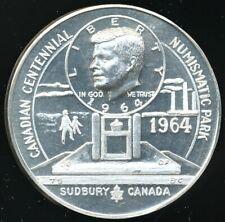 New Listing Vintage 1964 1.21 Oz. .999 Silver Medal Jfk Sudbury, Canada Numismatic Park