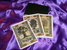 Jeu de cartes divinatoires style tarot de marseille dessin oracle des arbres